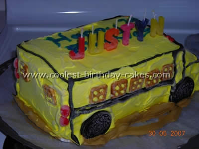 Fine Coolest School Bus Cake Photos Webs Largest Homemade Birthday Personalised Birthday Cards Cominlily Jamesorg