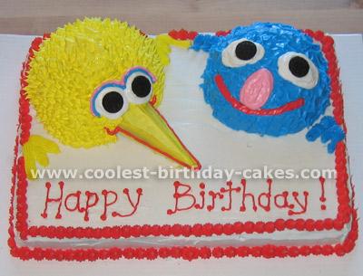 Sesame Street Birthday Cake Photo