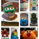 Sesame Street Cake Collage