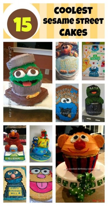 Sesame Street Cake Collage