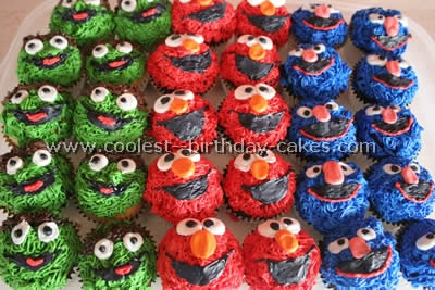 Coolest Sesame Street Cupcakes