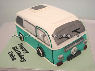 Coolest Van Shaped Birthday Cake Photos