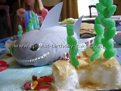 Shark Picture Birthday Cake