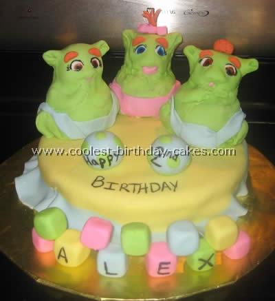 Shrek Character Cake Photo