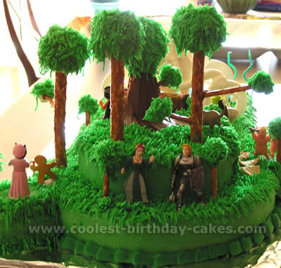 Shrek Character Cake Photo