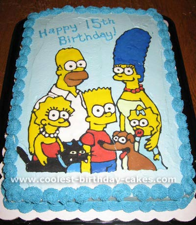 Superb Coolest Homemade Simpsons Cakes Funny Birthday Cards Online Alyptdamsfinfo