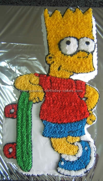 Sensational Coolest Simpsons Picture Cakes On The Webs Largest Homemade Funny Birthday Cards Online Alyptdamsfinfo