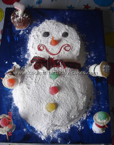 Coolest Snowman Cake Photos and How-To Tips