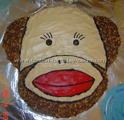 Peachy Coolest Sock Monkey Cakes Funny Birthday Cards Online Barepcheapnameinfo
