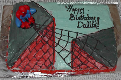 Spider Man Cake Photo