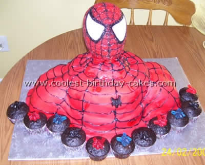 Prime Coolest Spiderman Cakes Personalised Birthday Cards Beptaeletsinfo