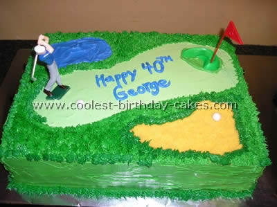 Excellent Coolest Golf Sports Cake Ideas And Decorating Tips Funny Birthday Cards Online Aeocydamsfinfo