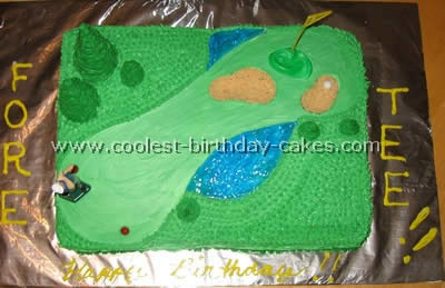 Super Coolest Golf Sports Cake Ideas And Decorating Tips Funny Birthday Cards Online Aeocydamsfinfo