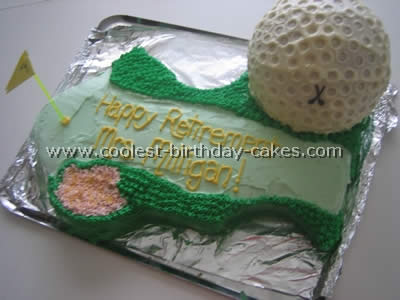 Surprising Coolest Golf Sports Cake Ideas And Decorating Tips Personalised Birthday Cards Arneslily Jamesorg