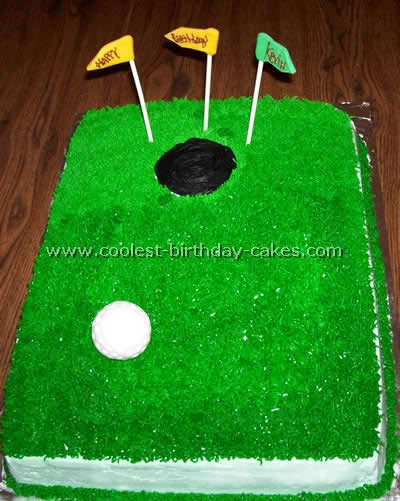 Golf Sports Cake