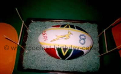 Rugby Sports Theme Cakes
