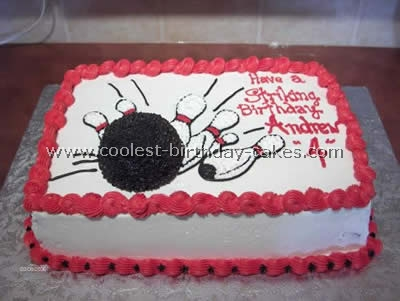Magnificent Coolest Bowling Sports Theme Cakes Personalised Birthday Cards Paralily Jamesorg