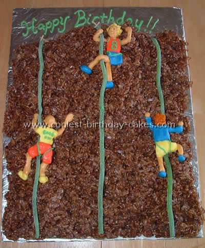 Coolest Mountain and Rock Climbing Sports Theme Cakes