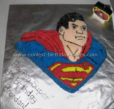 Coolest Superman Cakes On The Web S Largest Homemade Birthday Cake Gallery