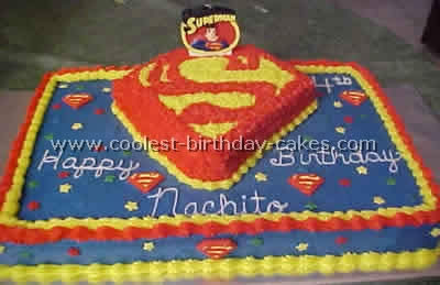 Coolest Superman Cakes On The Web S Largest Homemade Birthday Cake