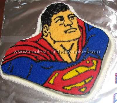 Coolest Superman Cakes on the Web's Largest Homemade Birthday Cake Gallery