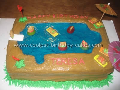 Coolest Swimming Pool Cake Photos and Decorating Tips