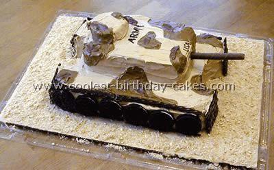 Homemade Tank Cake