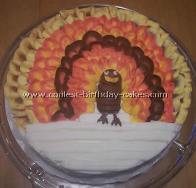 Astounding Coolest Thanksgiving Cake Ideas And Turkey Cakes Funny Birthday Cards Online Aboleapandamsfinfo