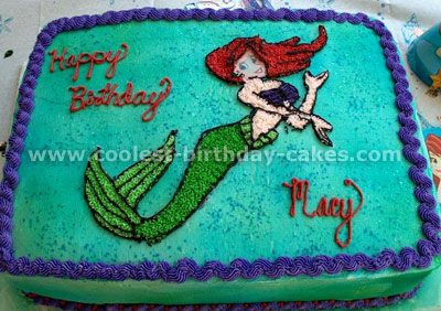 Brilliant Coolest The Little Mermaid Cakes On The Webs Largest Homemade Birthday Cards Printable Giouspongecafe Filternl