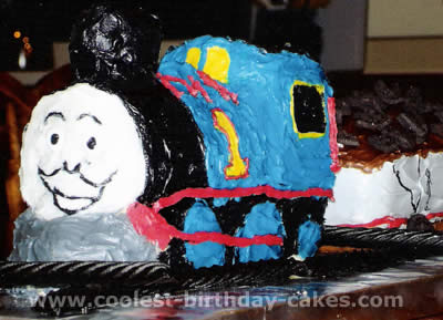 Template For Thomas The Tank Engine Cake | Coolest Thomas The Train Cake Photos And Ideas