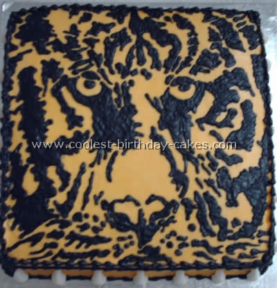 Coolest Tiger Picture Cakes - Web's Largest Homemade Birthday Cake Photo Gallery