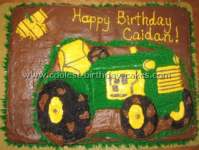 Outstanding Coolest Ever Farming Tractor Cake Ideas Funny Birthday Cards Online Fluifree Goldxyz