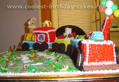 Fantastic Coolest Train Cakes And Amazingly Original Train Cake Designs Personalised Birthday Cards Veneteletsinfo