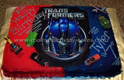 Transformers Cake Photo