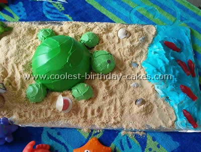 Turtle Birthday Cake Picture