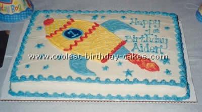 Rocket-Shaped Cake