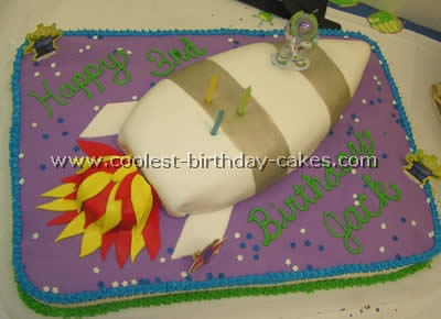 Rocket-Shaped Cake