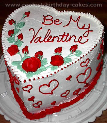 Astounding Romantic Homemade Valentine Cakes And How To Tips Funny Birthday Cards Online Fluifree Goldxyz