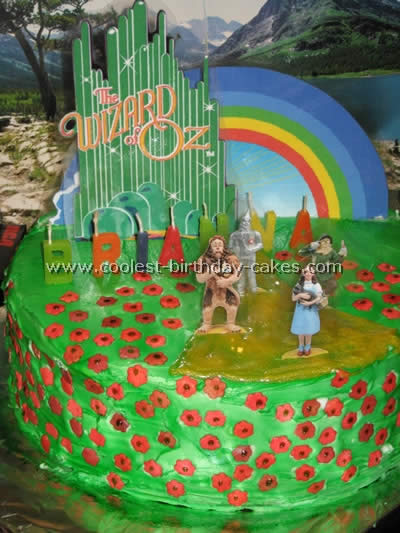 Peachy Coolest Wizard Of Oz Cake Photos And How To Tips Funny Birthday Cards Online Bapapcheapnameinfo