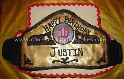 Homemade Wrestling Cake