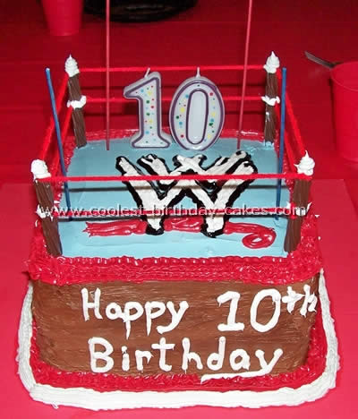 Groovy Coolest Homemade Wrestling Cakes And Wwe Cakes Personalised Birthday Cards Sponlily Jamesorg