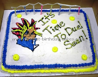 Groovy Coolest Yugioh Character Cakes On The Webs Largest Homemade Personalised Birthday Cards Veneteletsinfo