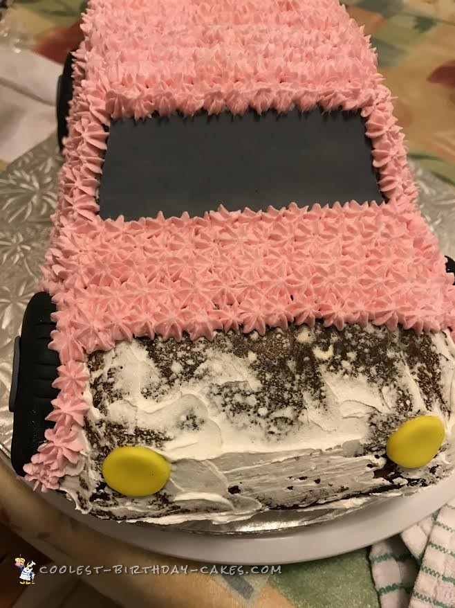 Cute, Pink Car Cake for a 2 Year Old Girl
