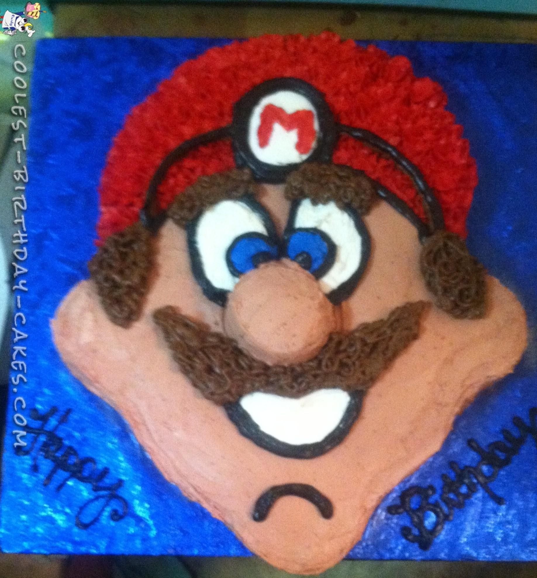Cool Homemade Super Mario Birthday Cake