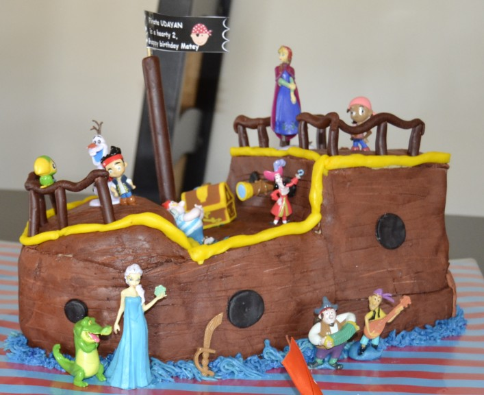 Wondrous Coolest Homemade Jake And The Never Land Pirates Cakes Funny Birthday Cards Online Inifodamsfinfo