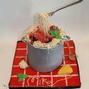 Spaghetti and meatballs Italian themed cake