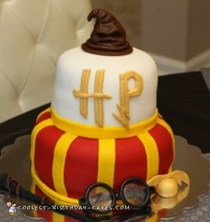 Fabulous Coolest Homemade Harry Potter Birthday Cake Personalised Birthday Cards Paralily Jamesorg