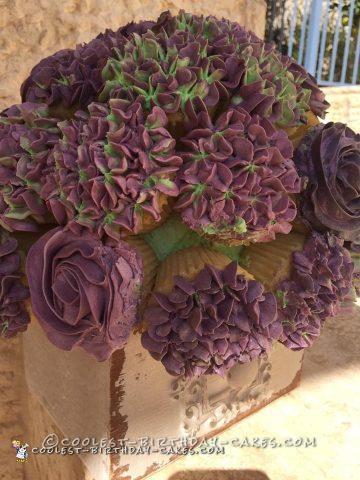 Springy Hydrangea Cupcake Bouquet