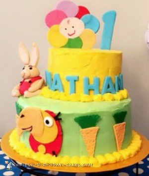 babyfirst themed cake