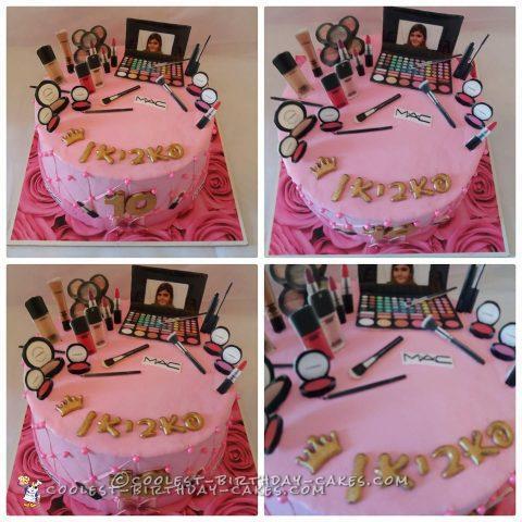 Surprising Awesome Homemade Mac Makeup Cake Funny Birthday Cards Online Necthendildamsfinfo